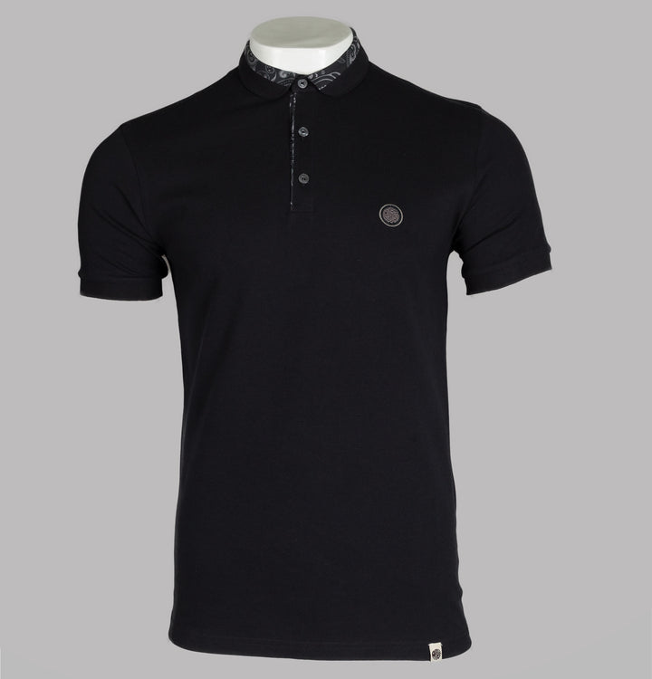 Paisley Printed Collar Polo Shirt