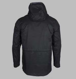 Pretty Green Lightweight Cotton Zip Up Hooded Jacket Black