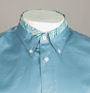 Slim Fit Paisley Print Collar Shirt