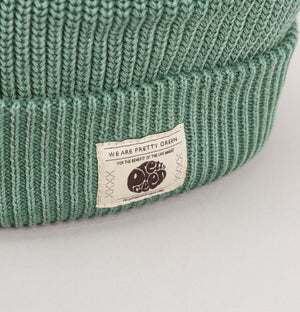 Pretty Green Ribbed Beanie Green