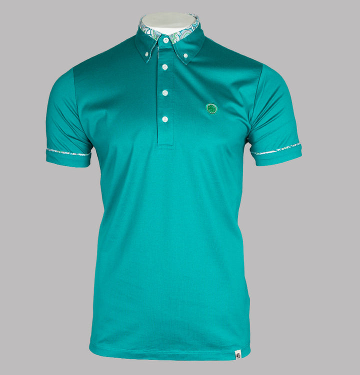 Paisley Print Collar Polo Shirt