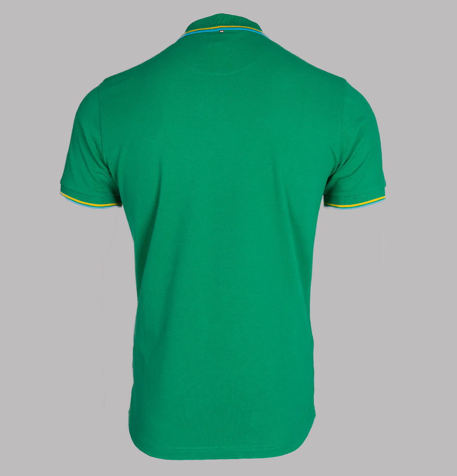 Pretty Green Tipped Pique Polo Shirt Green