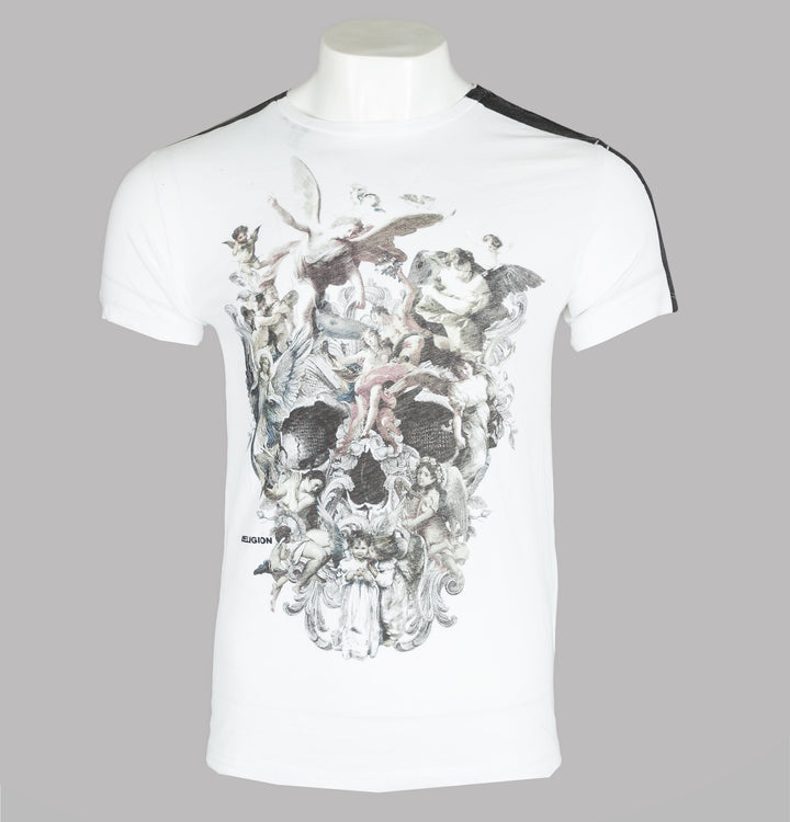 Religion Cherubs Skull T-Shirt White