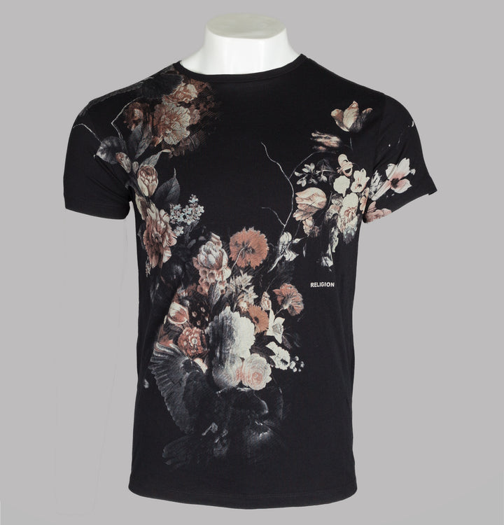 Religion Dark Flower T-Shirt Black