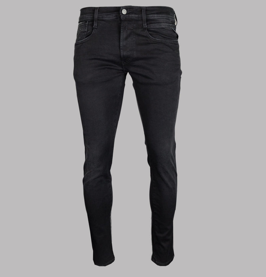 Replay Anbass Slim Fit Hyperflex Clouds Jeans Black