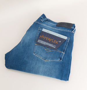 Replay Anbass Slim Fit Hyperflex+ Jeans Medium Blue