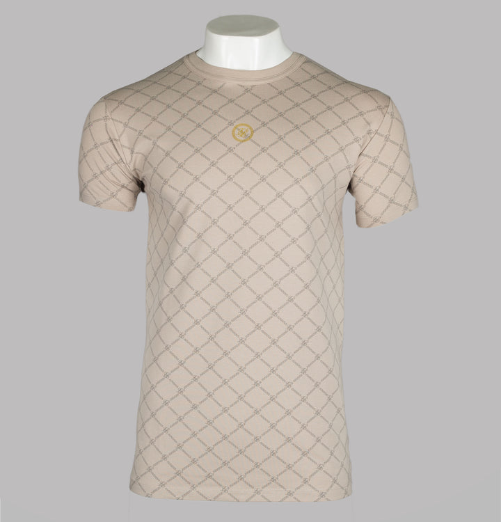 Faded Diamond Reverse Collar Tee
