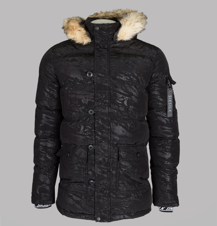 Sik Silk Puff Parka Black