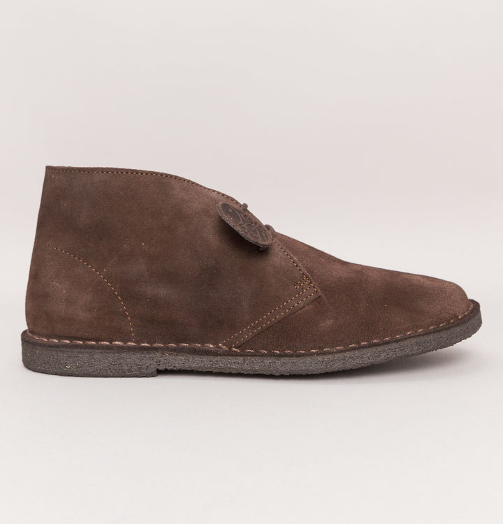Pretty Green Suede Desert Boots Brown