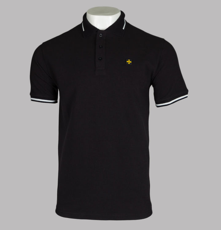 Terrace Cult Pique Polo Shirt Black/White