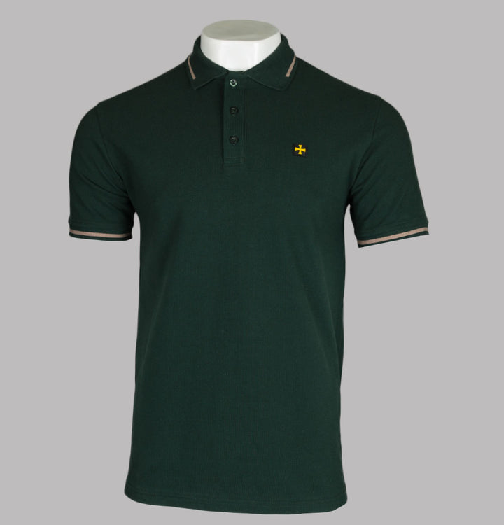 Terrace Cult Pique Polo Shirt Green