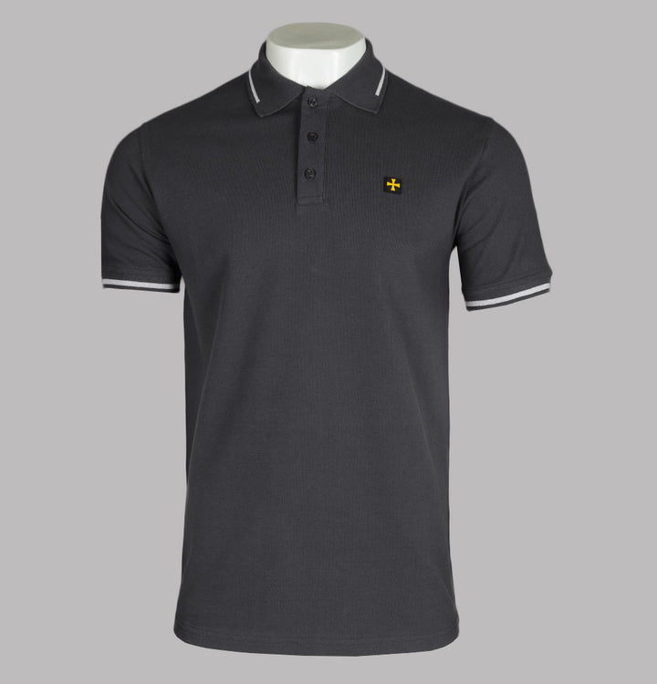 Terrace Cult Pique Polo Shirt Magnet Grey