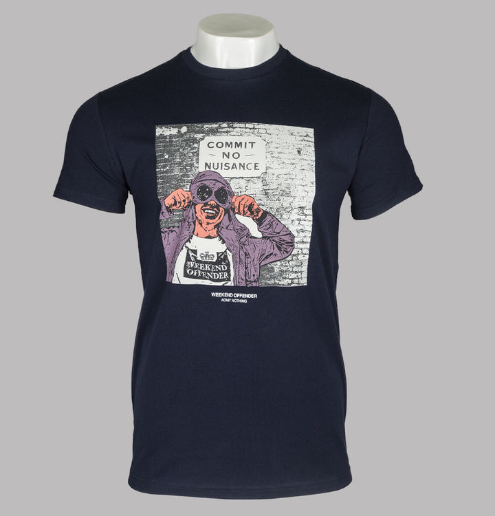 Weekend Offender Nuisance T-Shirt Navy
