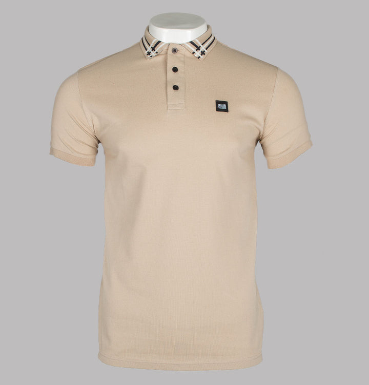 Weekend Offender Rivera Polo Shirt Mushroom