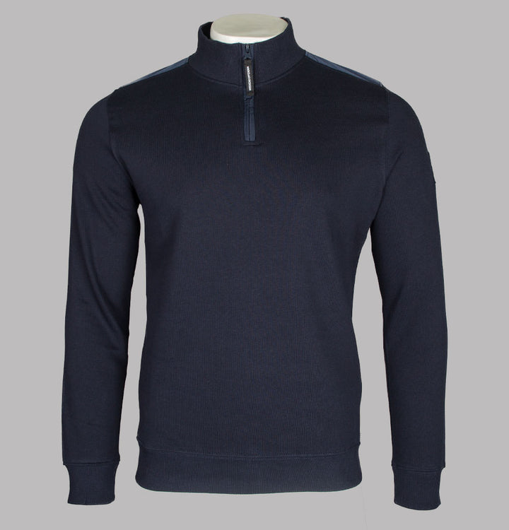 Weekend Offender Robore 1/4 Zip Sweatshirt Navy