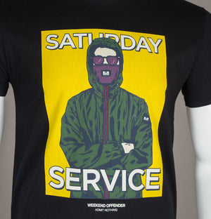 Weekend Offender Saturday Service T-Shirt Black