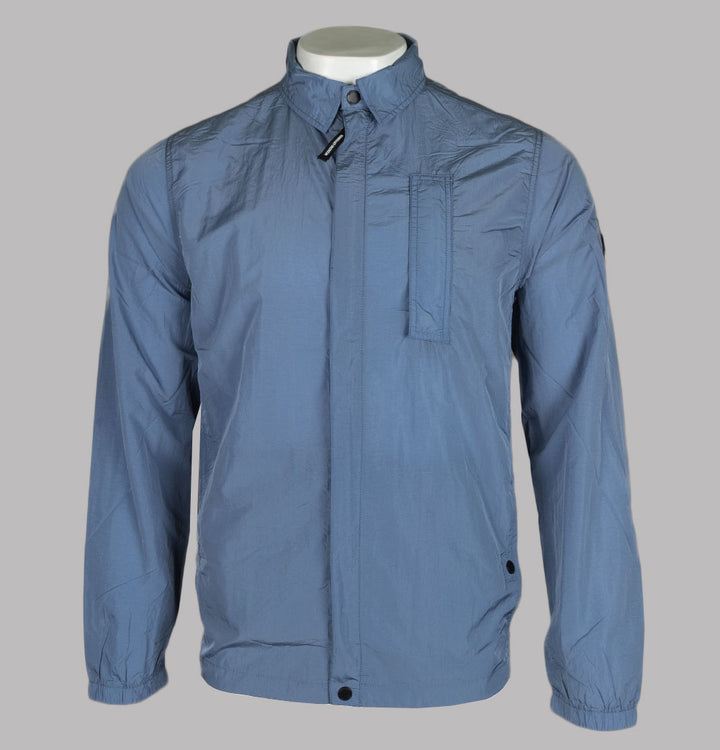 Weekend Offender Sorvino Overshirt Steel Blue