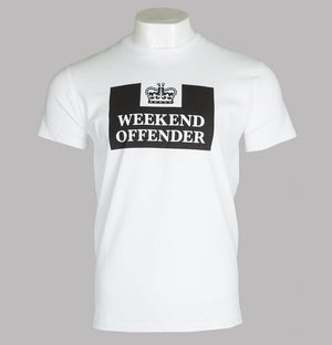 Weekend Offender HM Prison T-Shirt White