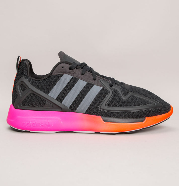 Adidas ZX 2K Flux Trainers Core Black/Shock Pink