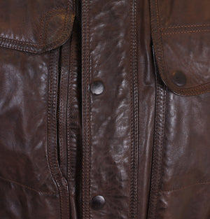 Matchless Kensington Leather Coat Antique Brown