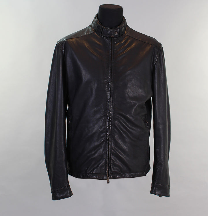 Matchless Jonny Blouson Leather Jacket Black