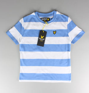 Lyle & Scott Kids Bold Stripe T-Shirt Blue