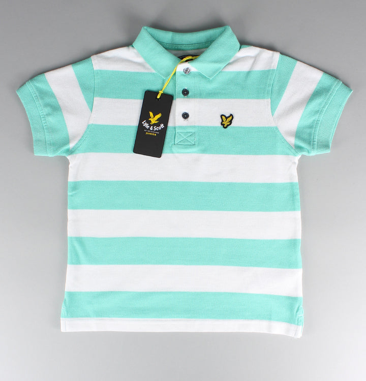 Block Stripe Polo Shirt - Green