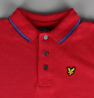 Tipped Polo Shirt - Red/Blue