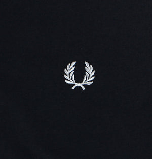 Fred Perry Classic Crew Neck T-Shirt Navy Blue