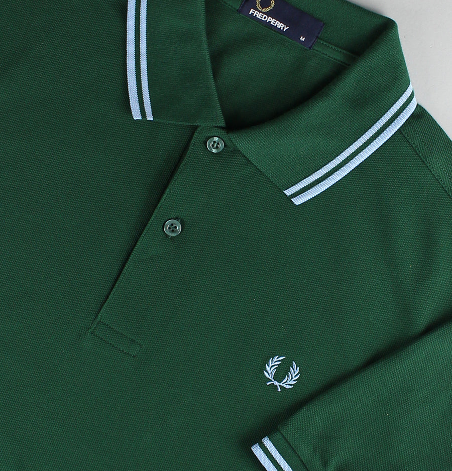 Fred Perry Regular Fit Twin Tipped Polo Shirt Ivy