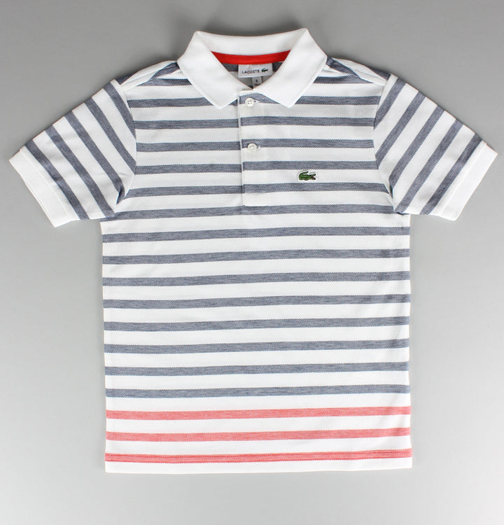 Contrast Stripe Polo Shirt - White