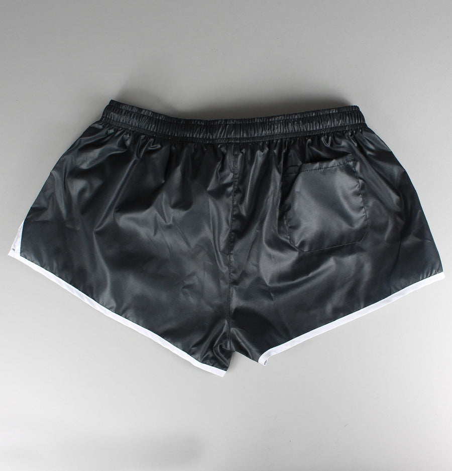 Sik Silk Retro Print Shorts Black