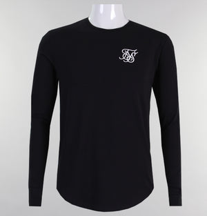 Sik Silk Long Sleeve Gym Tee Black