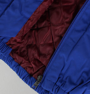 Zip Through Hooded Quilted Jacket - Duke Blue
