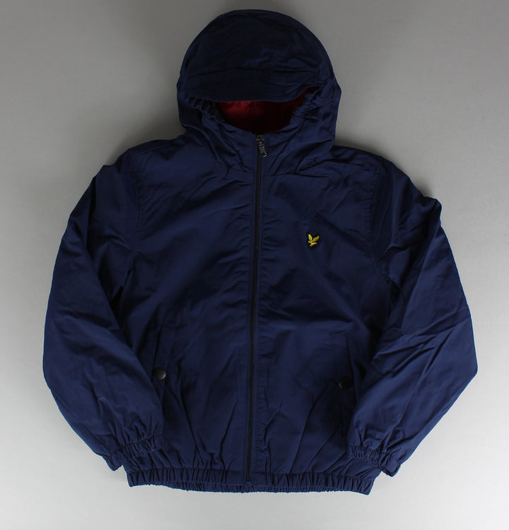 Zip Through Hooded Quilted Jacket - Deep Indigo