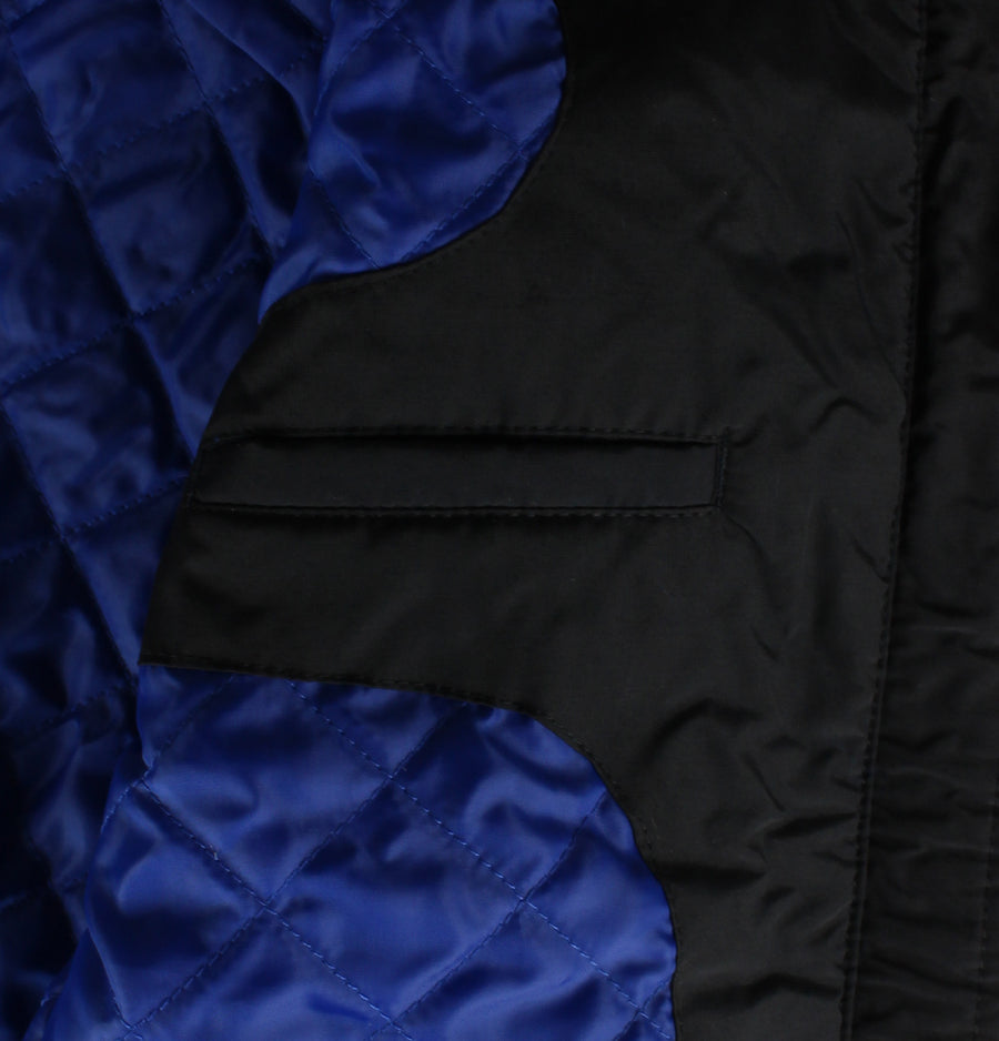 Zip Through Hooded Quilted Jacket - True Black