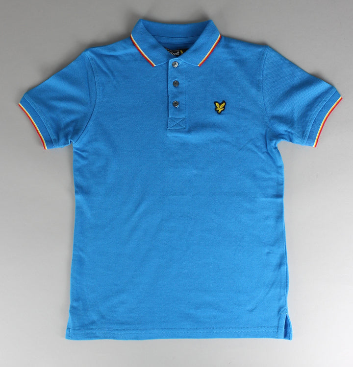 Twin Tipped Polo Shirt - Sea Blue