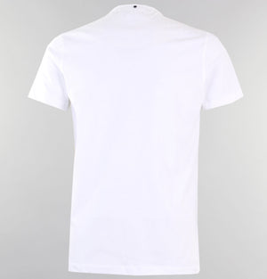 Pretty Green Kemplay Grandad T-Shirt White