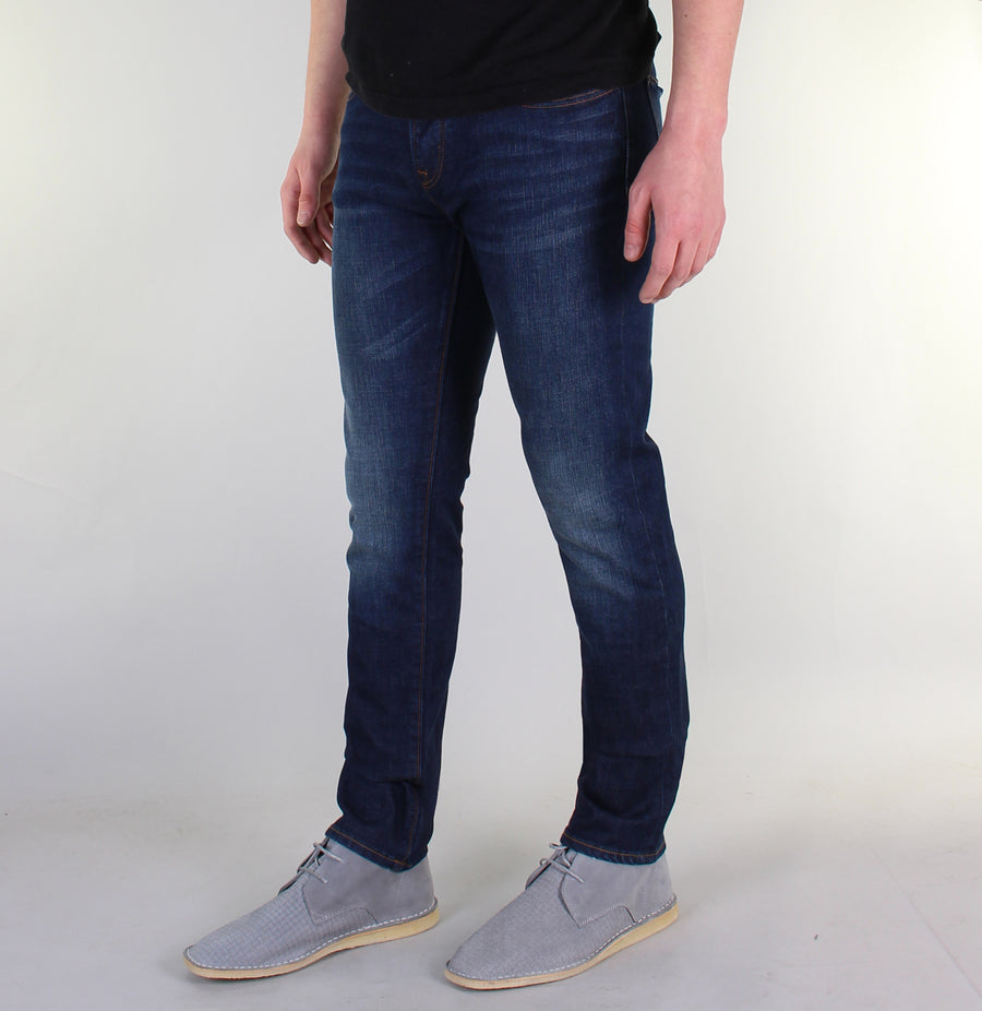 Pretty Green Castlefield Skinny Fit Jeans 6 Month Wash