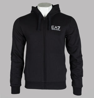 EA7 Full Zip Hooded Sweatshirt Black