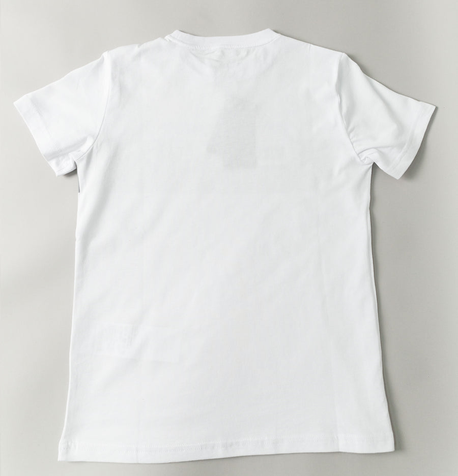 EA7 Block Stripe Logo T-Shirt White