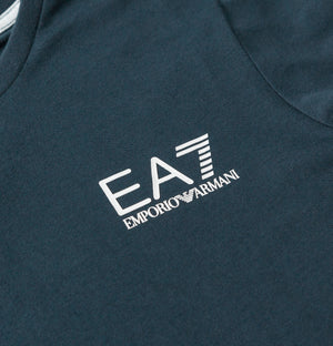 EA7 Core Small Logo T-Shirt Navy Blue/White