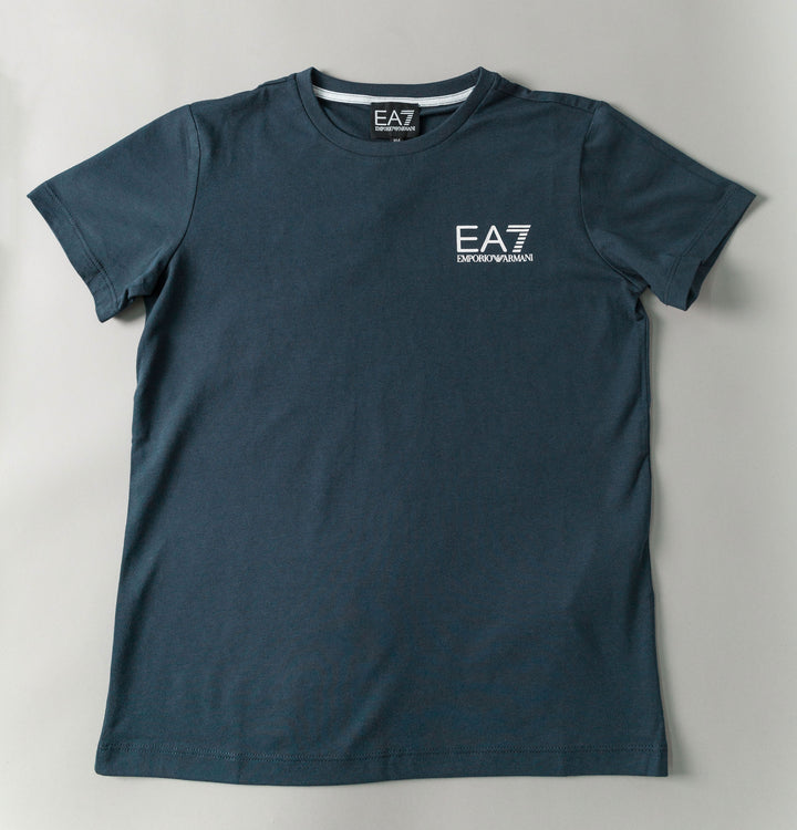 Core Small Logo T-Shirt - Navy Blue/White