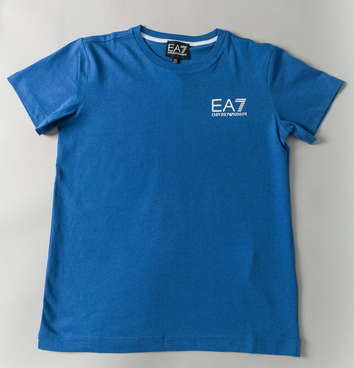 Core Small Logo T-Shirt - Surf Blue/White