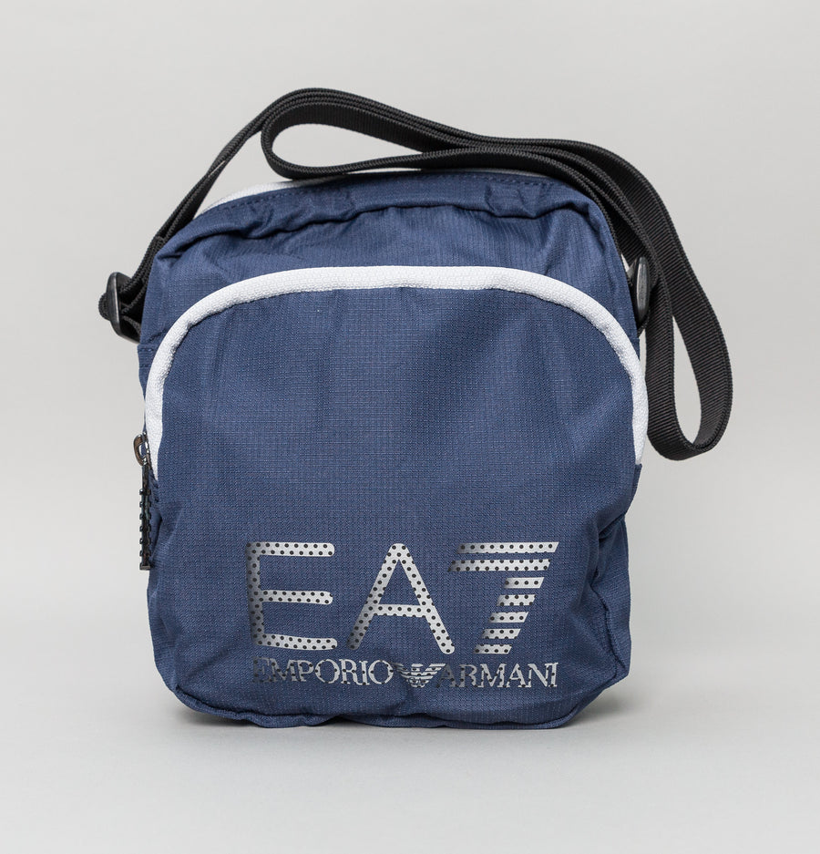 EA7 Small Train Prime Pouch Shoulder Bag Dark Blue