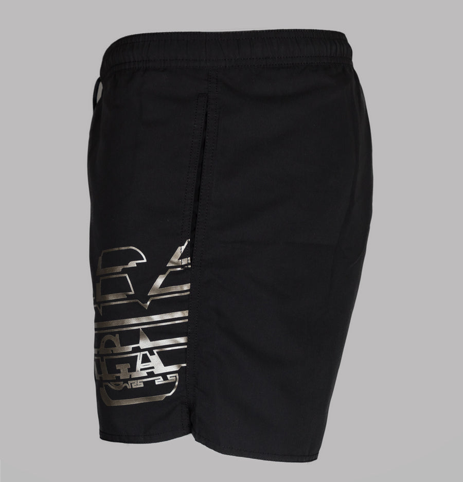 Emporio Armani Eagle Logo Swim Shorts Black