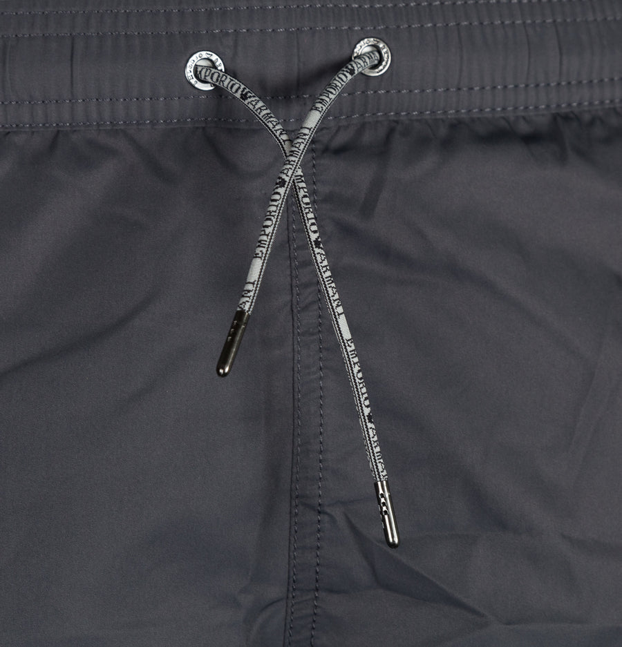 Emporio Armani Logo Taping Swim Shorts Anthracite