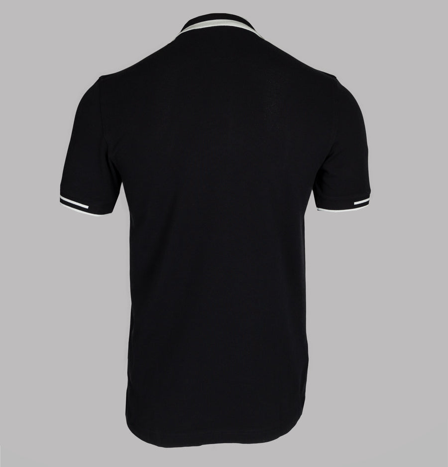 Fred Perry Block Tipped Polo Shirt Black