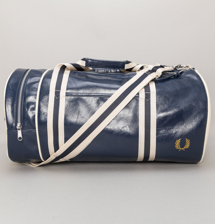 Classic Barrel Bag - Navy/Ecru