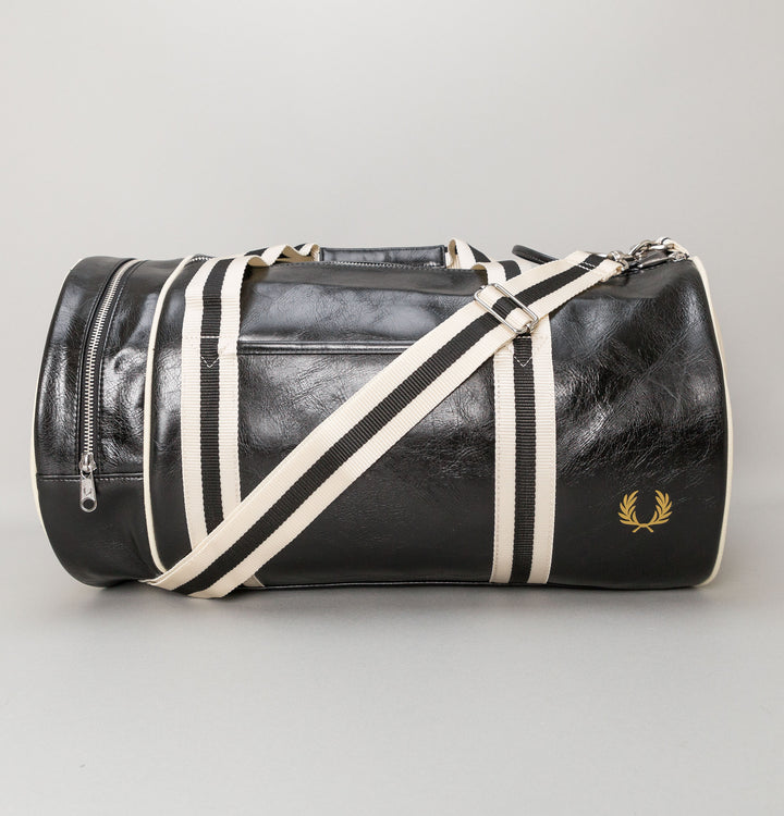 Classic Barrel Bag - Black/Ecru